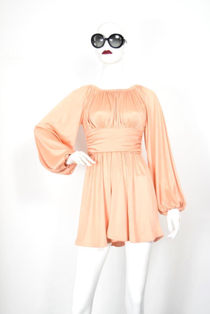 ADR001882 オレンジギャザードレス