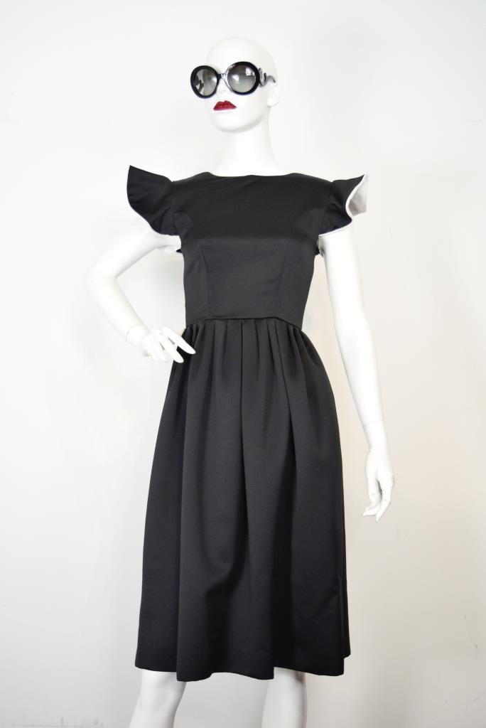 ADR001894 ブラックバックリボンドレス