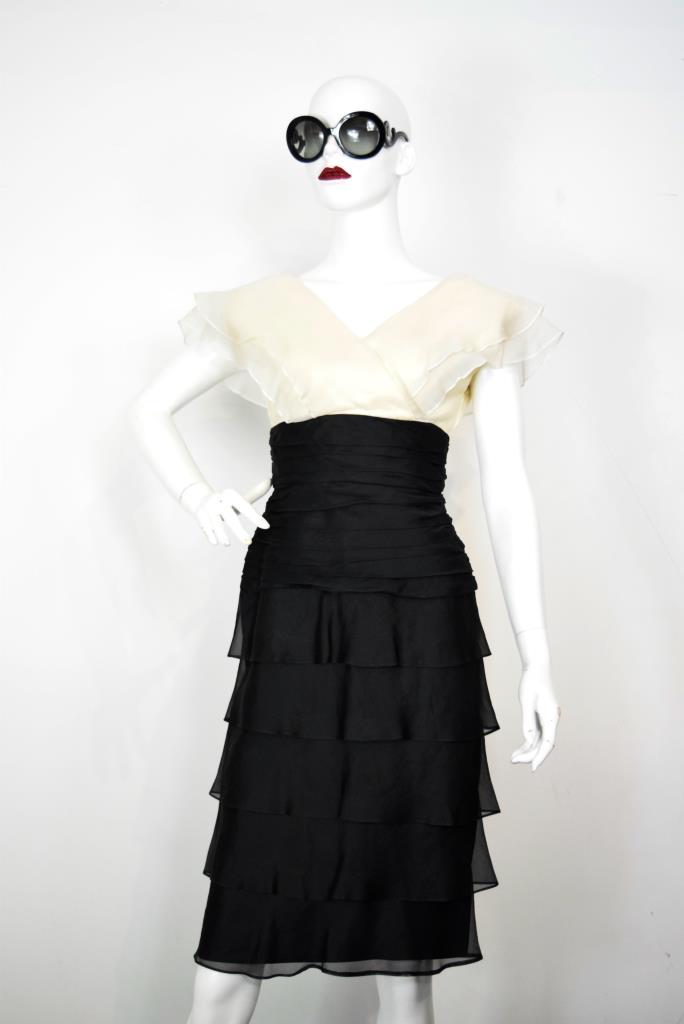 ADR001896 ブラックベージュドレス