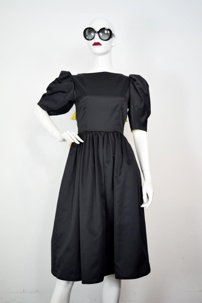 ADR001897 ブラックバックリボンドレス