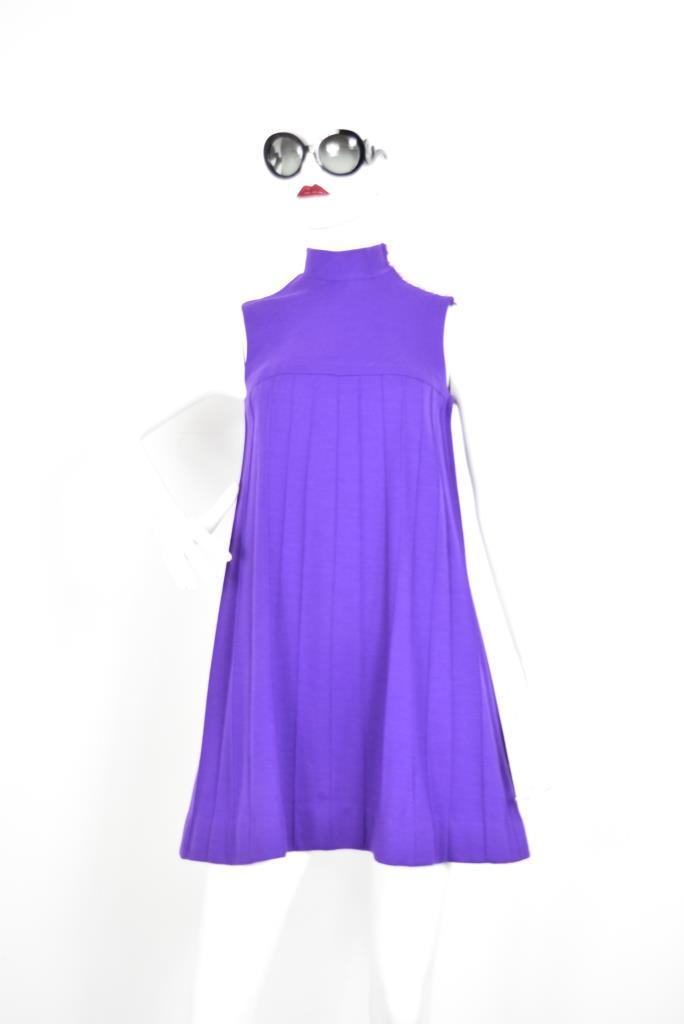 ADR001898 パープルタックドレス