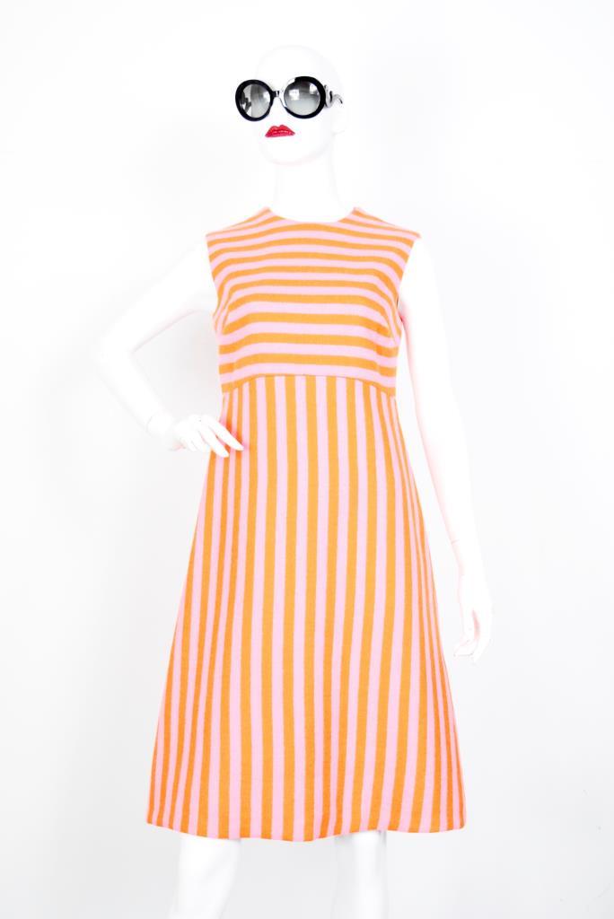 ADR001903 オレンジピンクボーダードレス