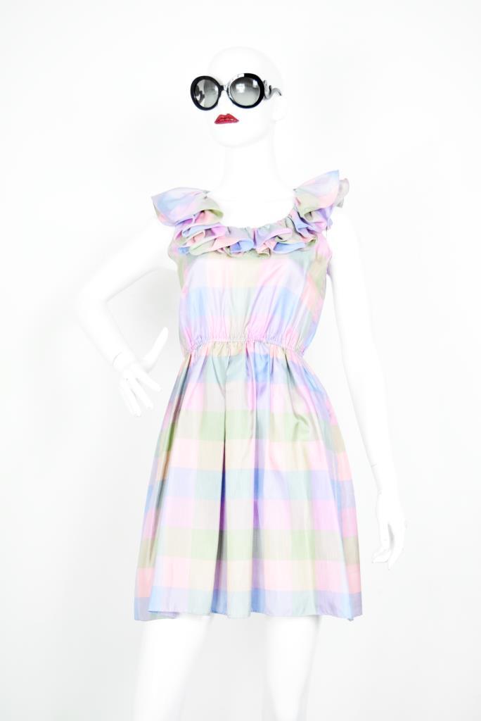 ADR001906 カラフルチェック柄ドレス