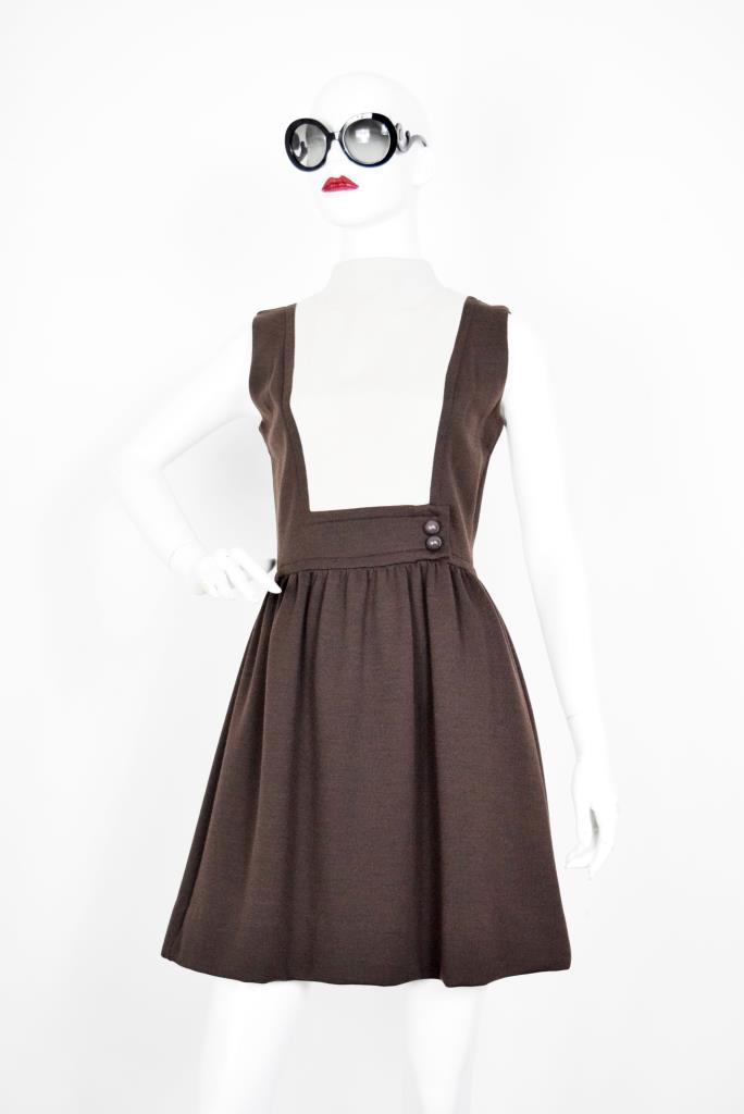 ADR001907 ブラウンホワイトドレス