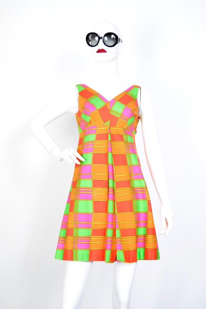 ADR001909 カラフルチェック柄ドレス