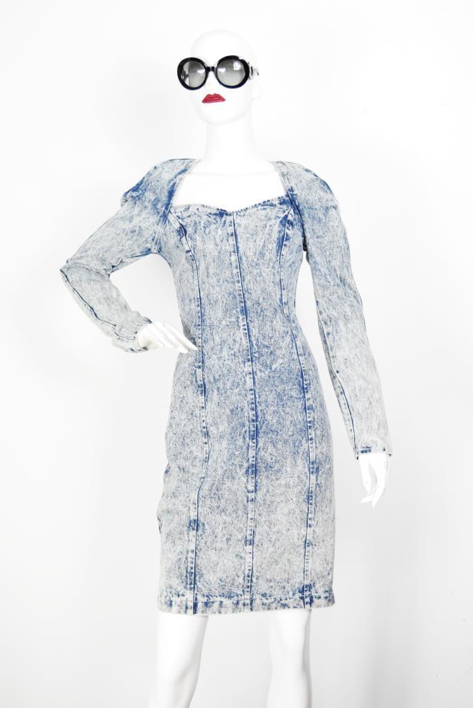 ADR001916 ブルーデニムドレス