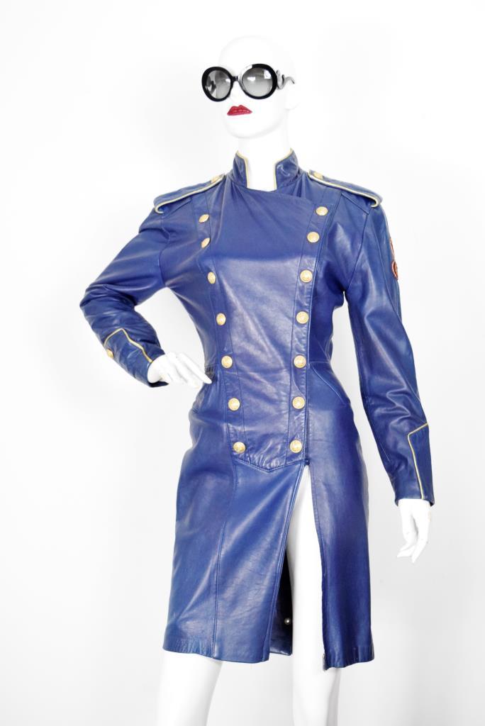 ADR001920 ブルーレザーナポレオンドレス