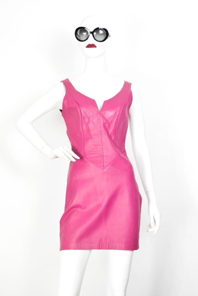 ADR001926 ピンクレザードレス