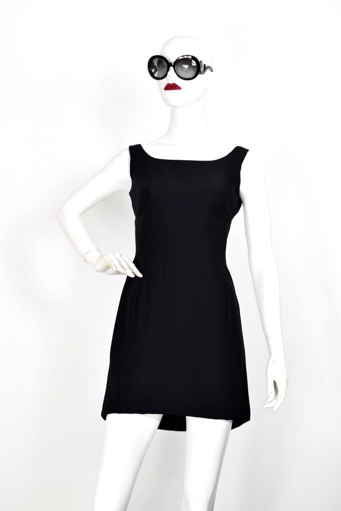 ADR001930 ブラック後ろタックドレス