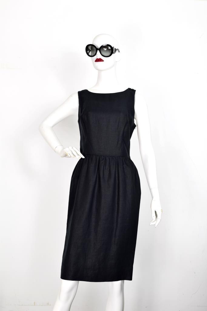 ADR001931 ブラック後ろリボンドレス