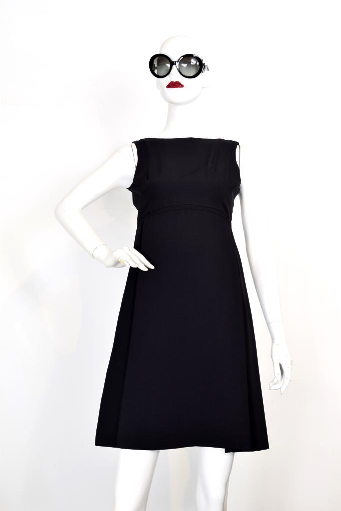 ADR001932 ブラックボートネックドレス