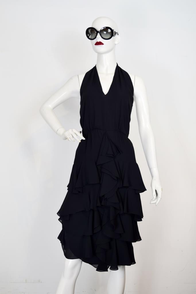 ADR001939 ブラックホルタードレス