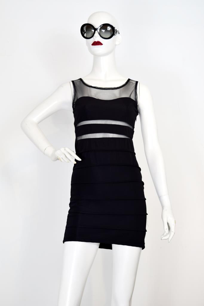 ADR001941 ブラックネットドレス