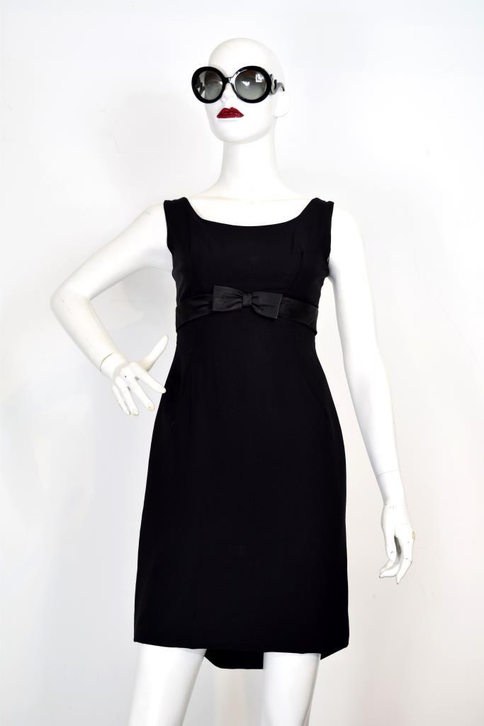 ADR001942 ブラックウエストリボンドレス