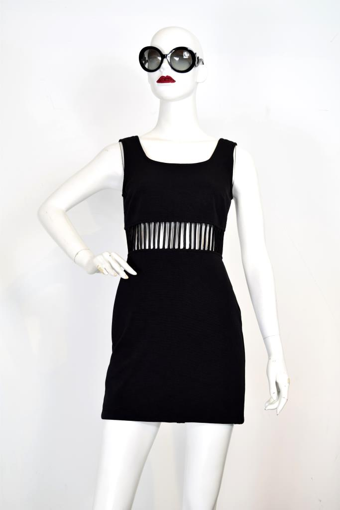 ADR001946 ブラックカットアウトドレス