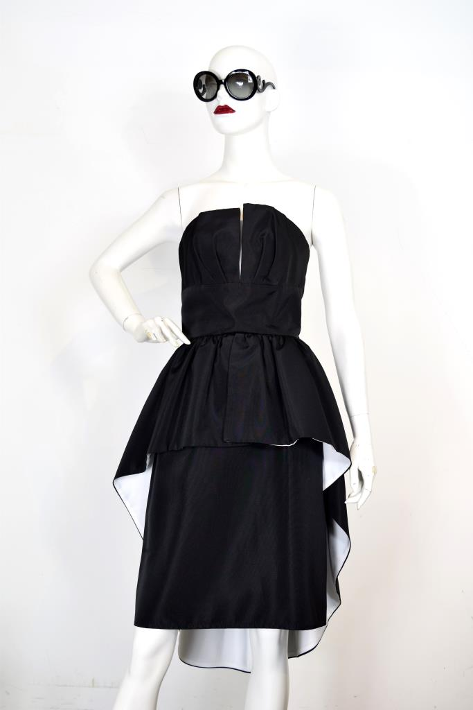 ADR001953 ブラックテールスカートドレス