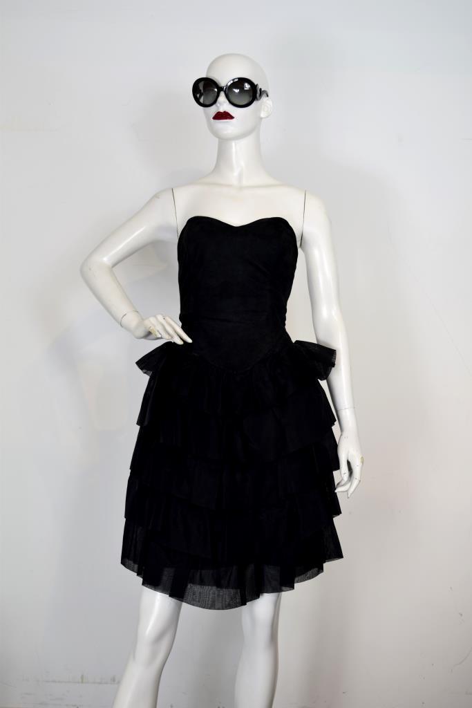 ADR001954 ブラックティアードドレス