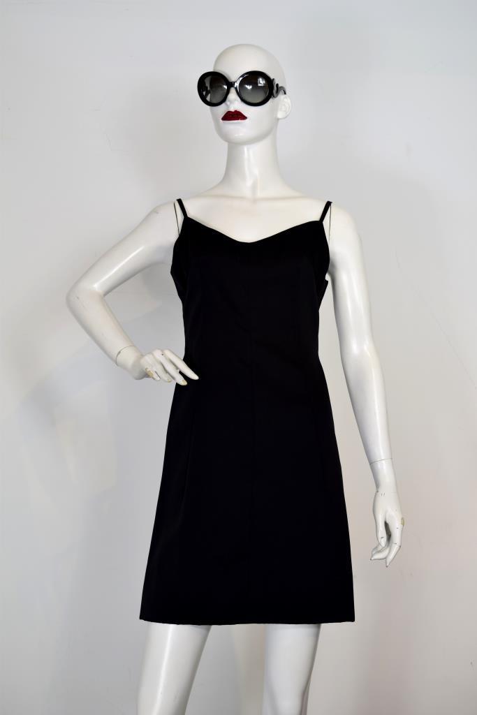 ADR001957 ブラックキャミソールドレス
