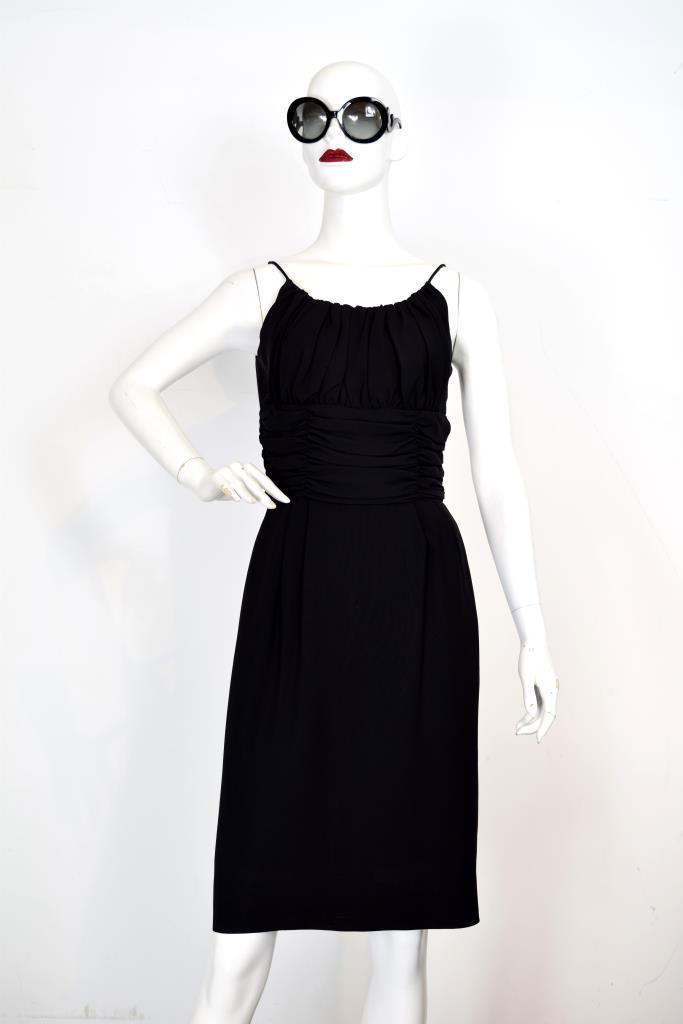 ADR001958 ブラックギャザードレス