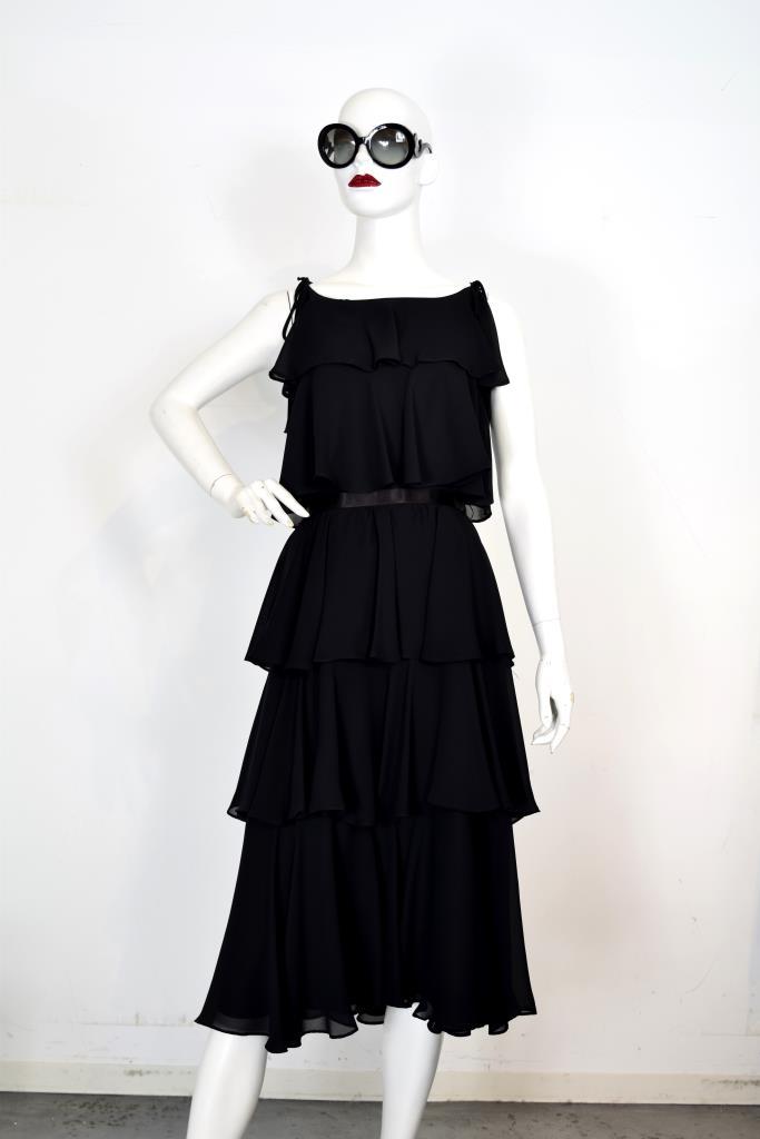 ADR001961ブラックティアードドレス