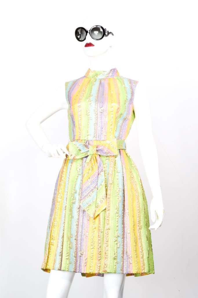 ADR001970 カラフル総柄ドレス