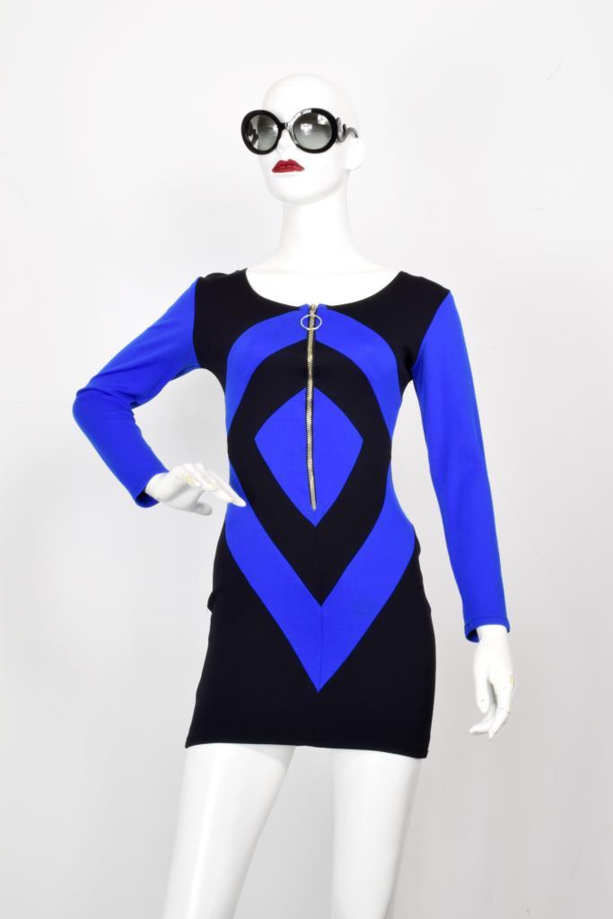ADR001976 ブルーブラックドレス