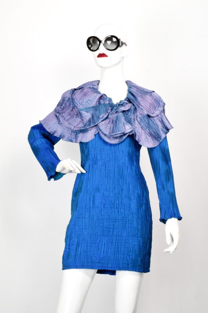 ADR001977 ブルー パープルカラードレス
