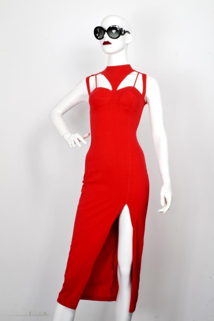 ADR001985 レッドカットアウトドレス
