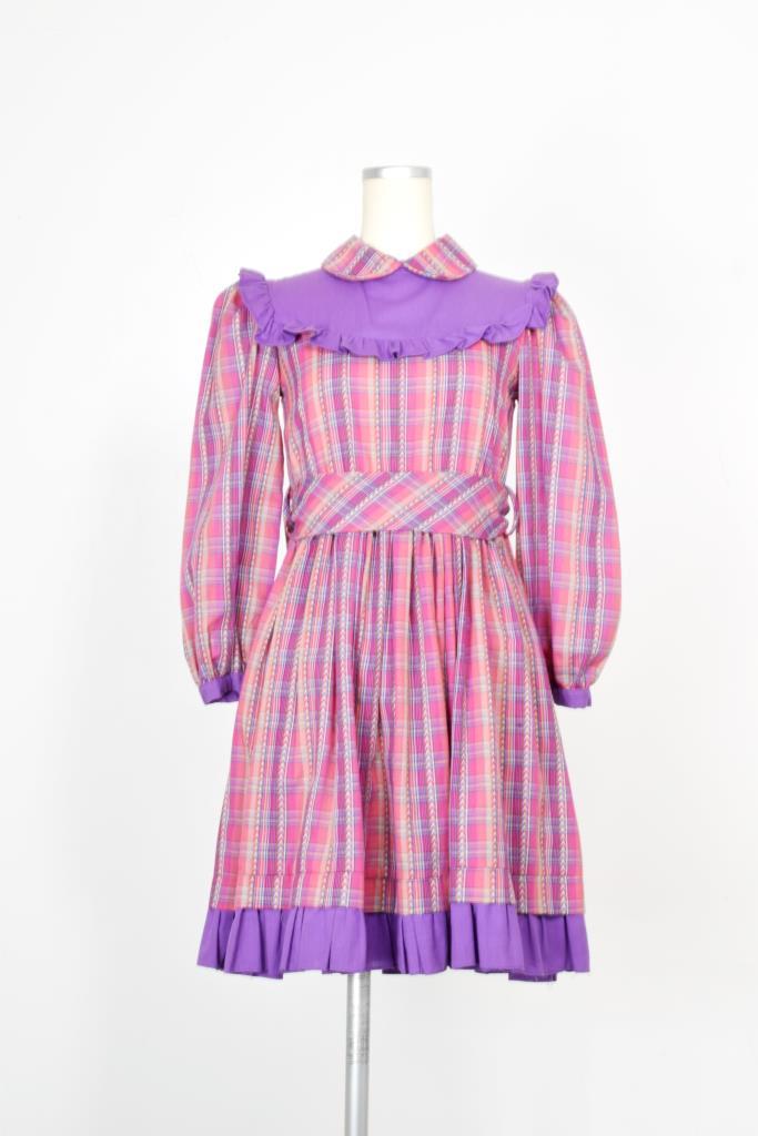 ADR002001 ピンクチェック柄ドレス
