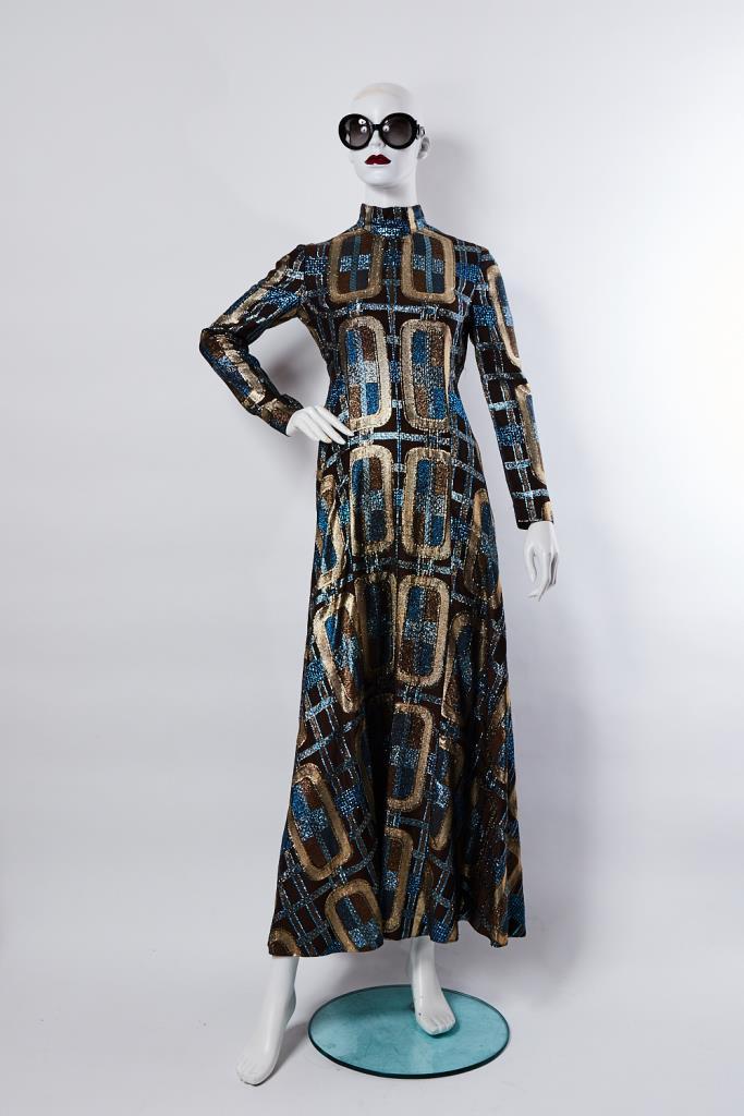ADR100004 ラメ柄ロングドレス