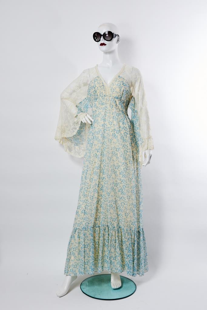ADR100005 花柄ロングドレス