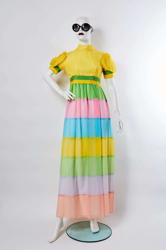 ADR100010 レインボーカラーロングドレス