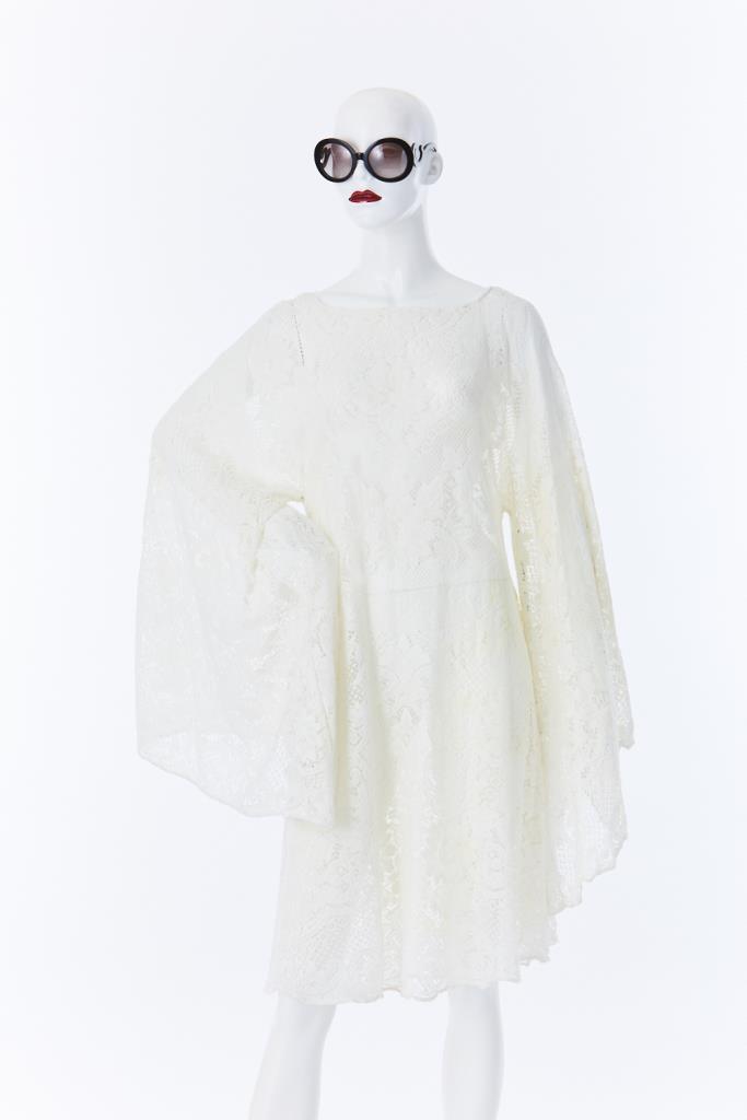 ADR500006 総レースホワイトドレス