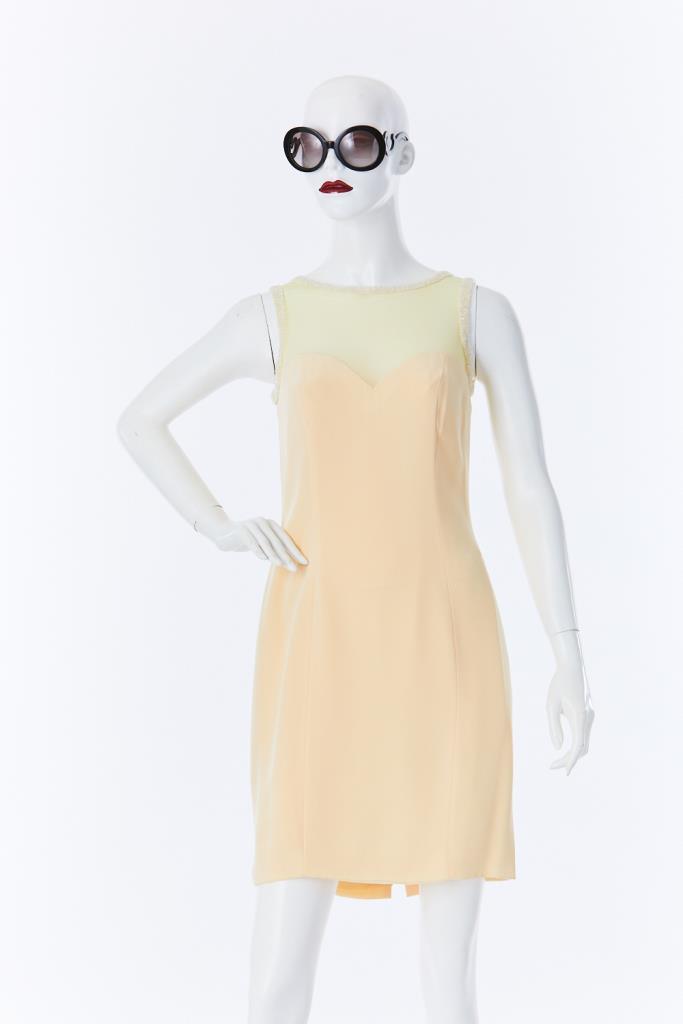 ADR500012 衿ビーズメッシュドレス