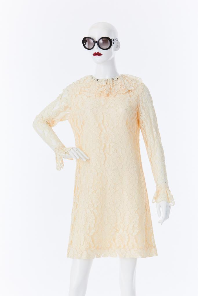 ADR500029 ビックカラーレースドレス
