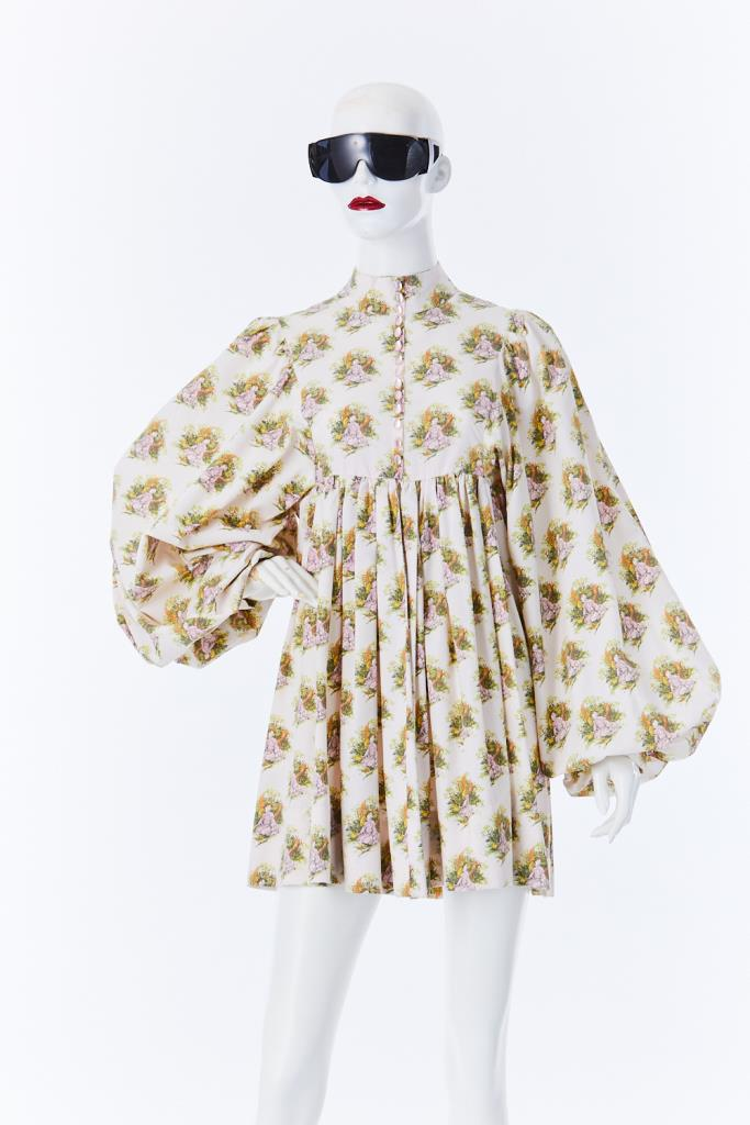 ADR500061 花柄ドレス