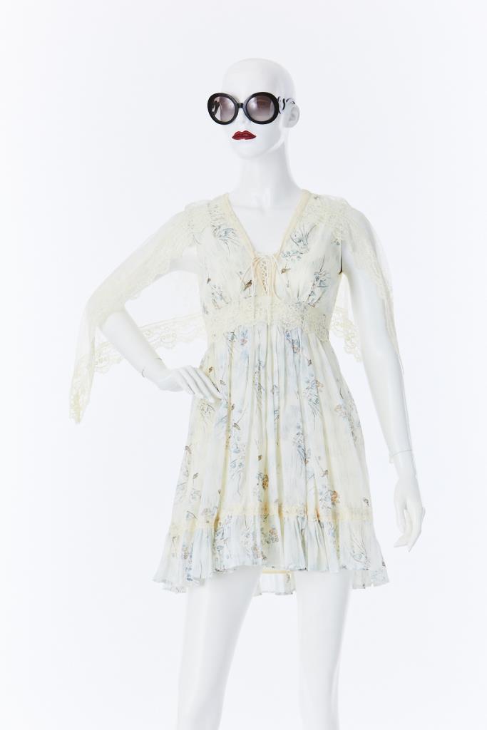 ADR500062 水色柄ドレス