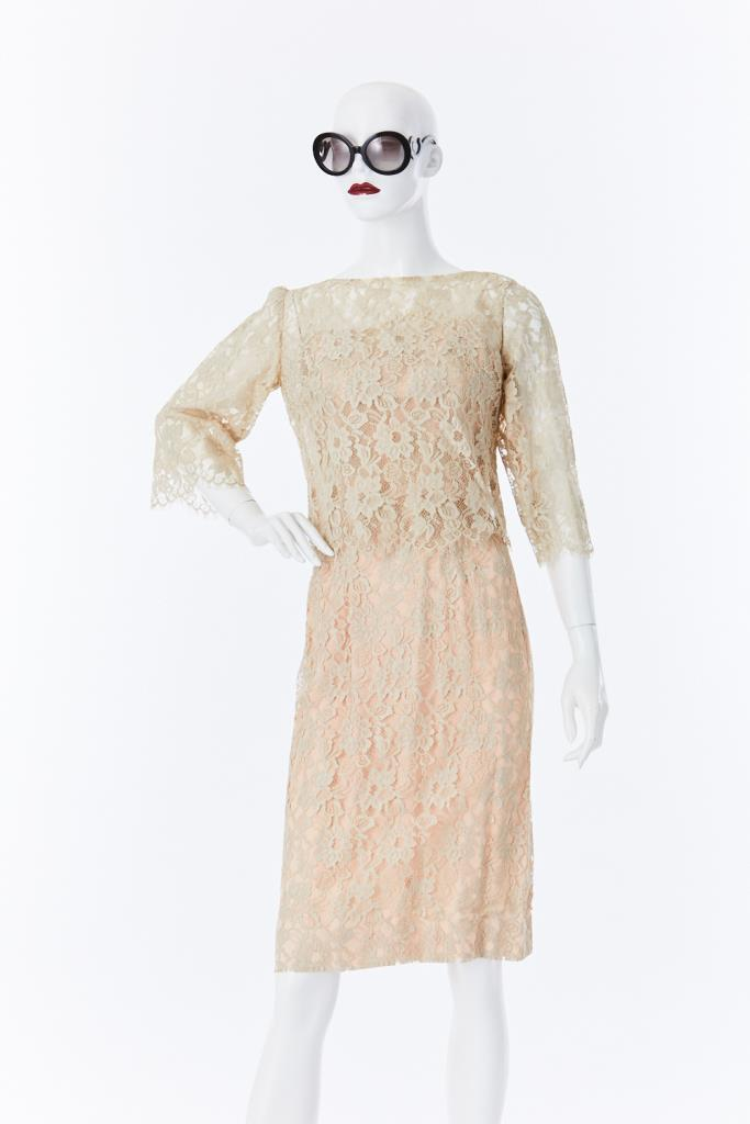 ADR500066 バックリボンレースドレス