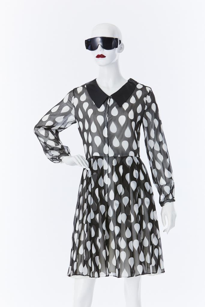 ADR500072 ドロップ柄ドレス