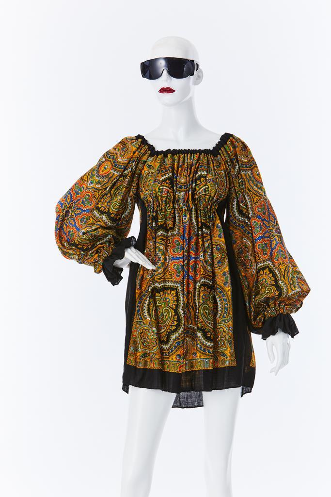 ADR500075 総柄ドレス