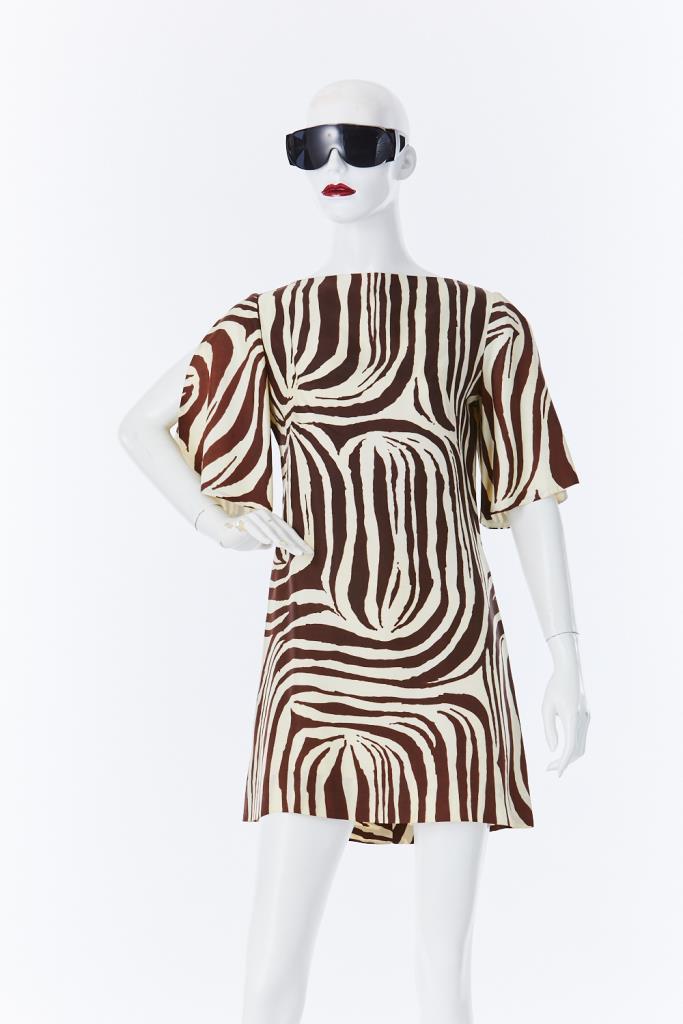 ADR500079 ゼブラ柄ドレス