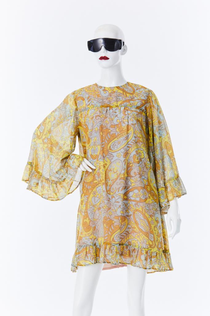 ADR500081 ベルスリーブドレス