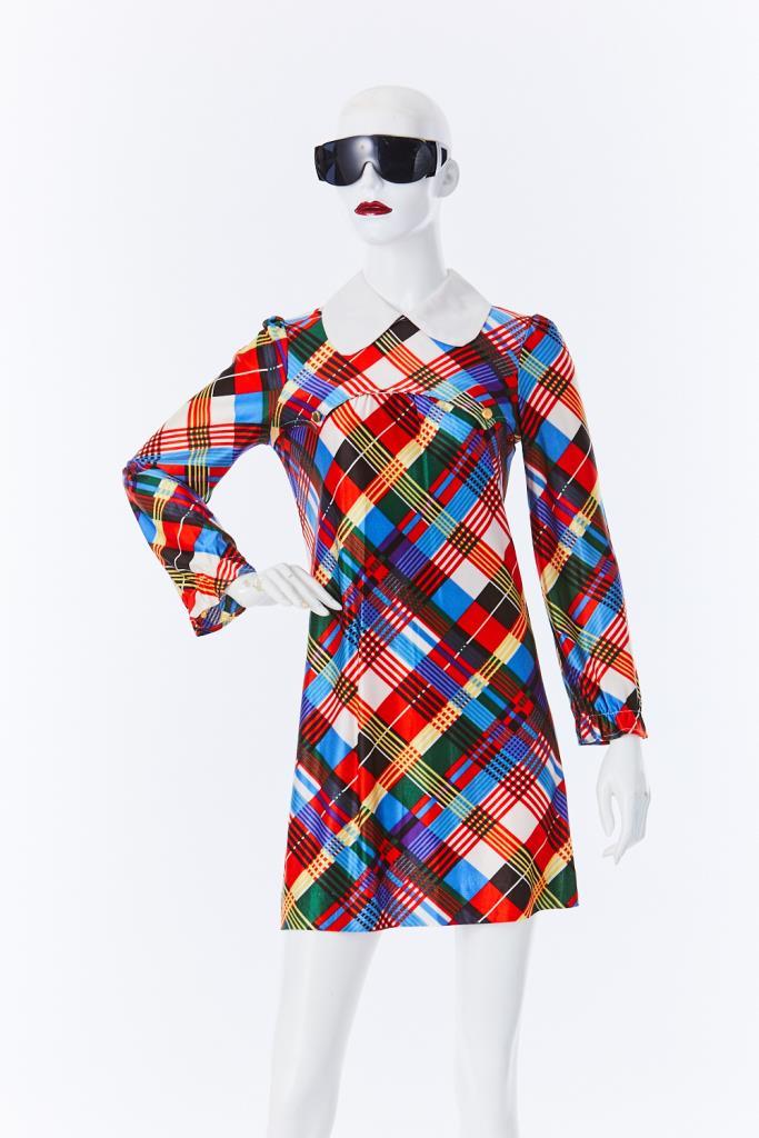 ADR500085 チェック柄ドレス