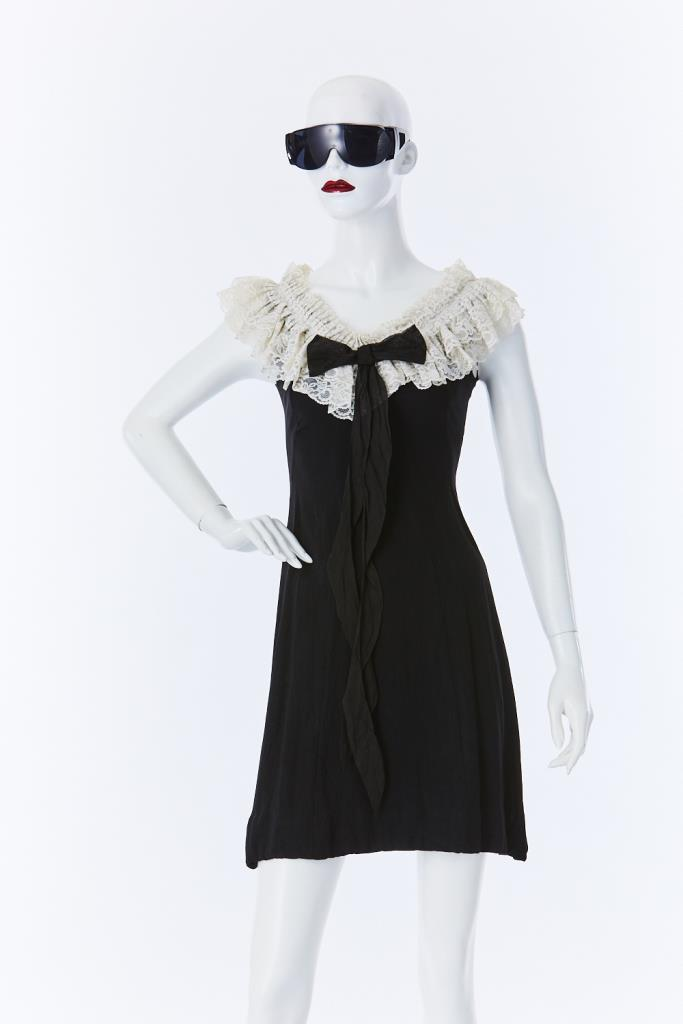 ADR500090 フリルネックドレス