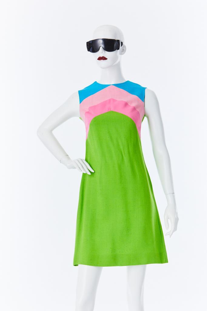 ADR500099 カラーブロックドレス