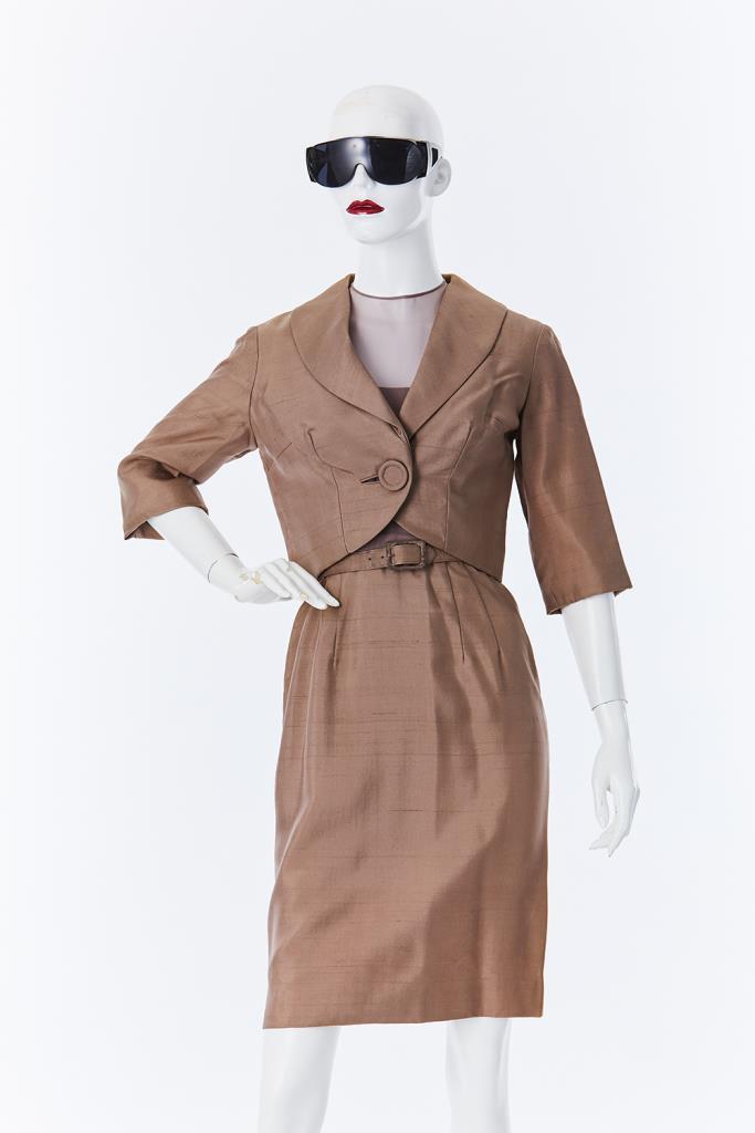ADR500105 ブラウンジャケットドレス