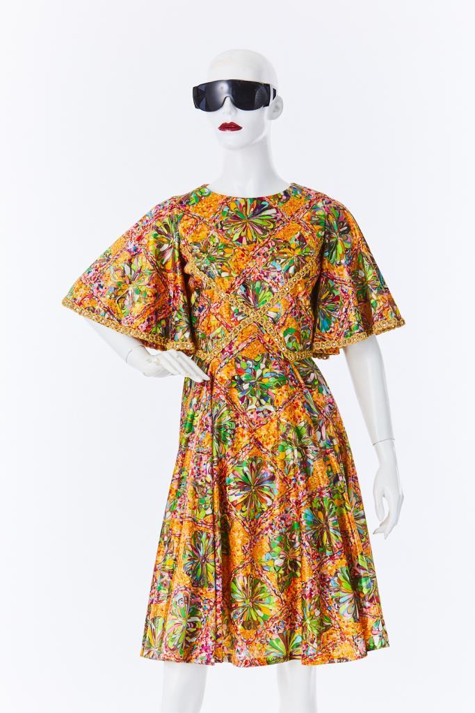 ADR500107 カラフル総柄ドレス