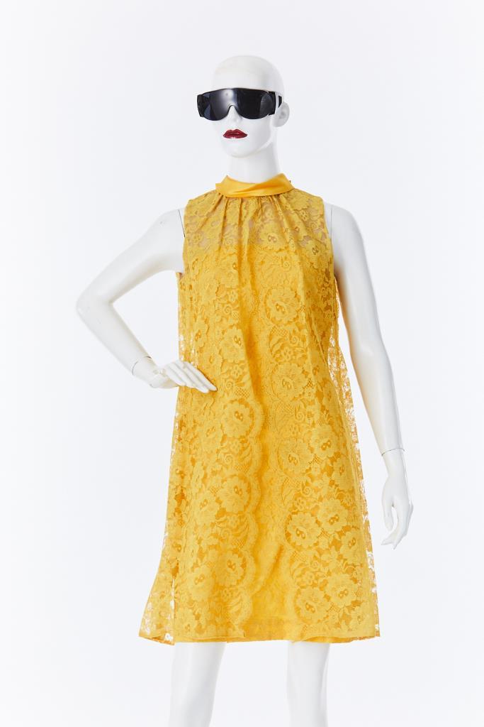 ADR500110 バックリボンレースドレス