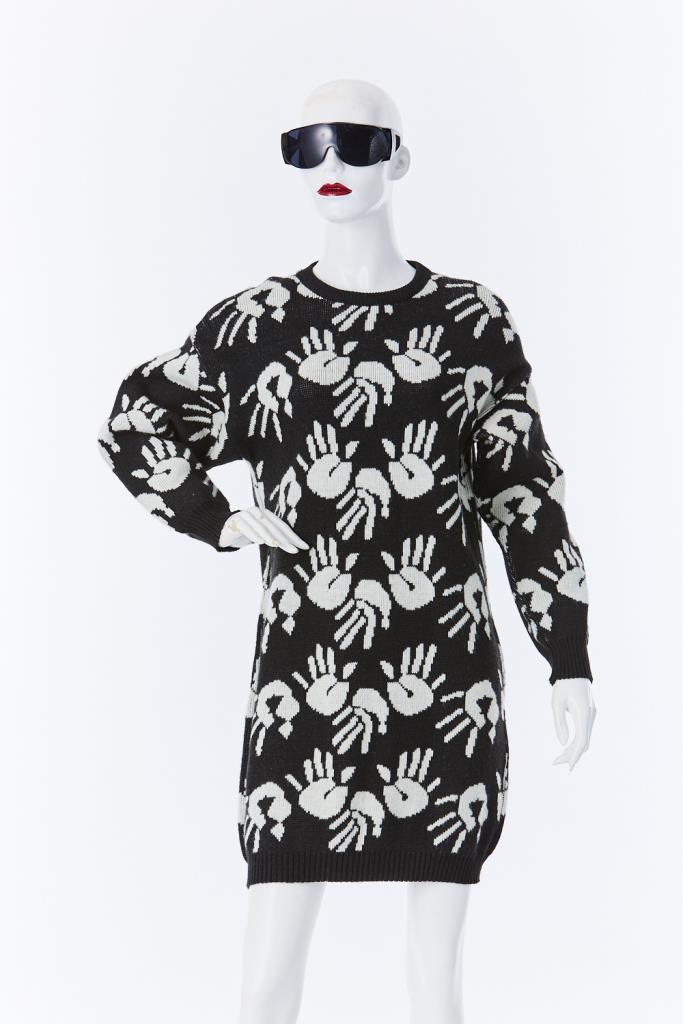 ADR500111 手形ニットドレス