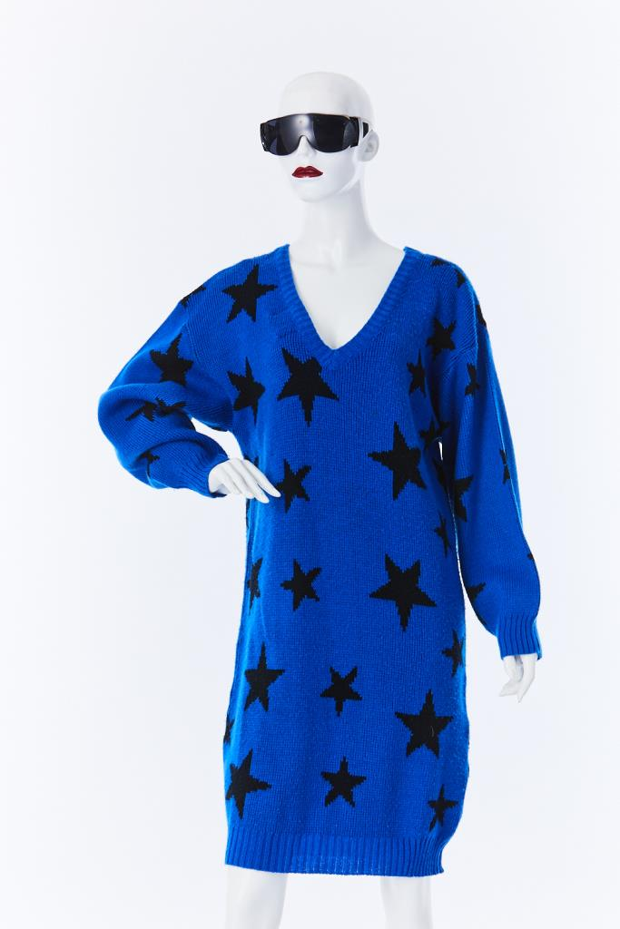 ADR500113 星柄ニットドレス